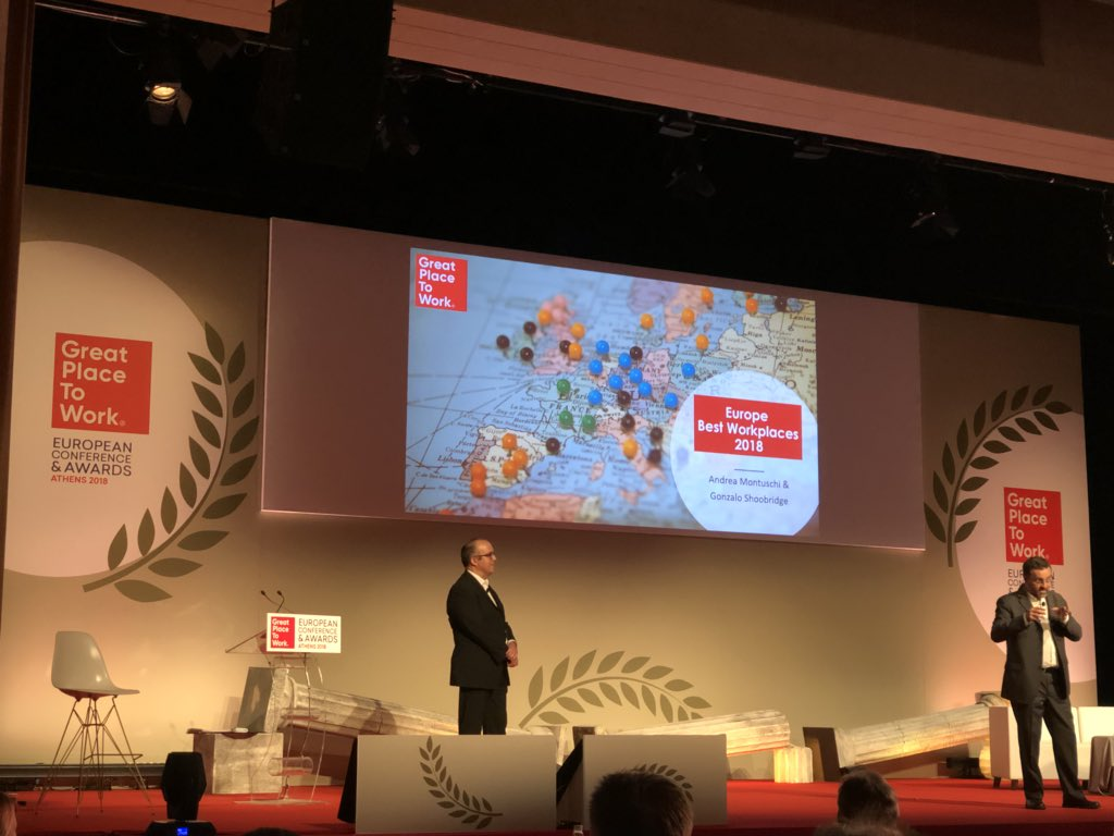 Best Workplaces Europe 2018 - l'intervento di Andrea Montuschi e Gonzalo Shoobridge