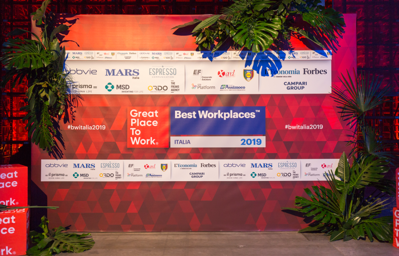 Evento Best Workplaces Italia 2019: numeri di un successo