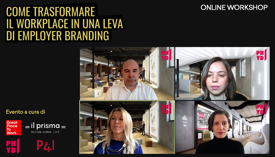 "Evento online ""Come trasformare il workplace in una leva di employer branding"""